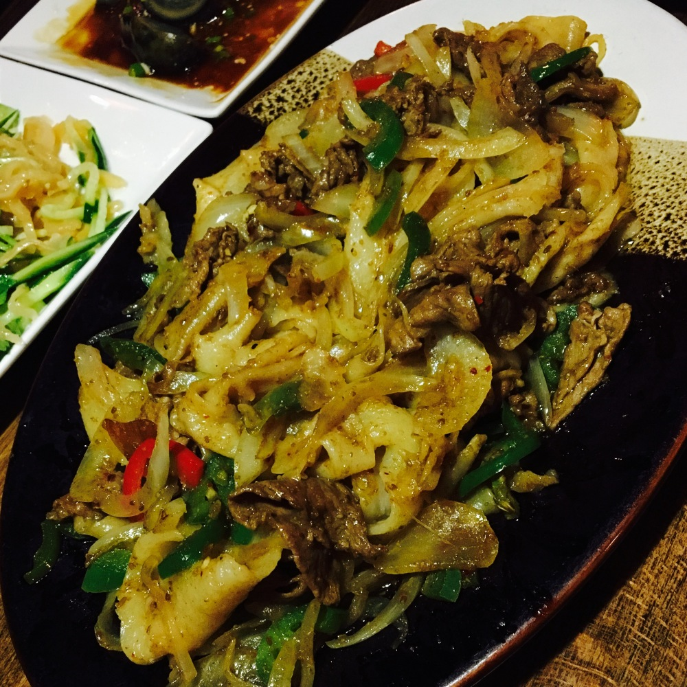cumin lamb with biang biang noodles