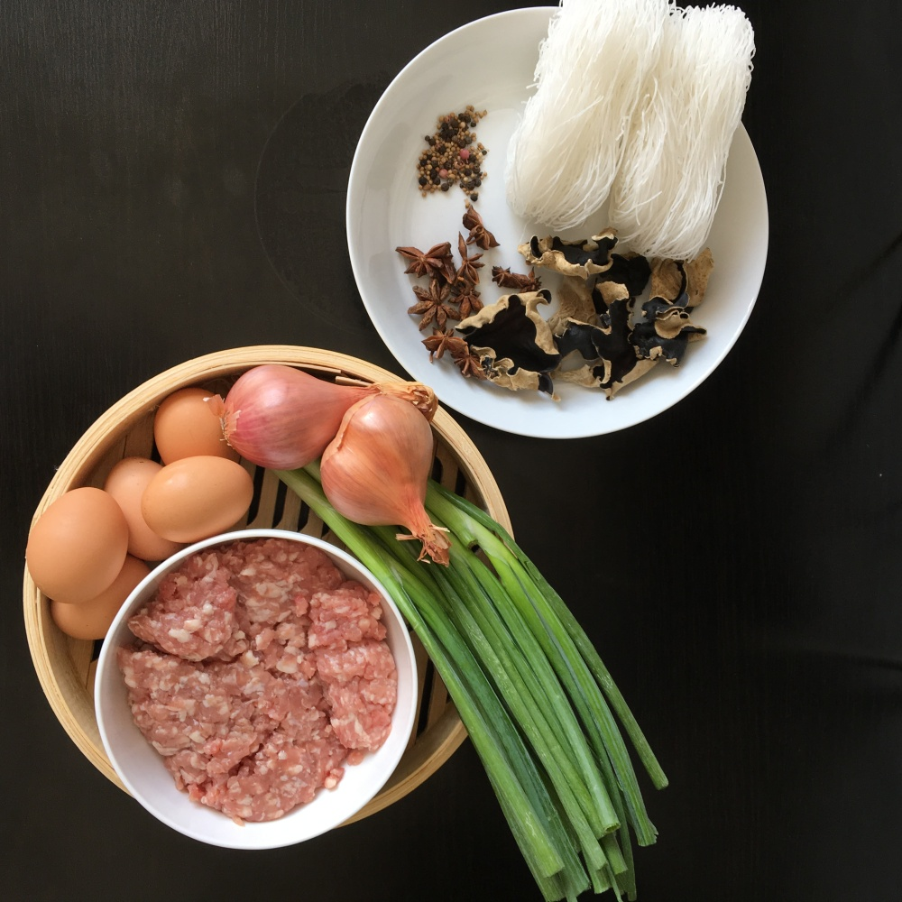 Taiwanese fried rice vermicelli ingredients